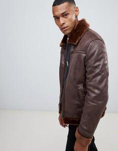 Куртка-авиатор с теплой подкладкой United Colors Of Benetton - Коричневый