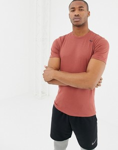 Коричневая футболка Nike Training Dry 2.0 706625-224 - Коричневый
