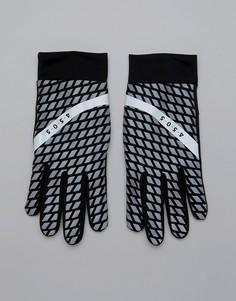 Черные перчатки для бега со светоотражающим принтом ASOS 4505 - Черный