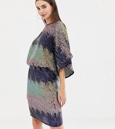 Платье миди с пайетками и эффектом омбре Flounce London Tall - Мульти