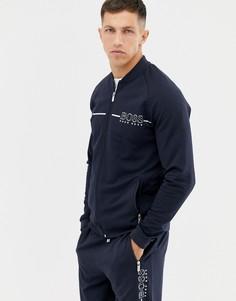 Спортивная куртка с логотипом BOSS bodywear - Темно-синий