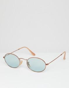 Круглые солнцезащитные очки Ray-Ban 0RB3547N - Золотой