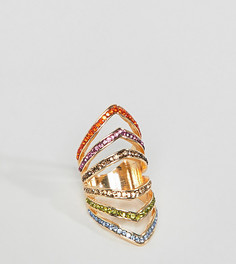 Золотистое броское кольцо DesignB London - Золотой