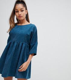 Синее вельветовое платье мини Missguided Petite - Зеленый