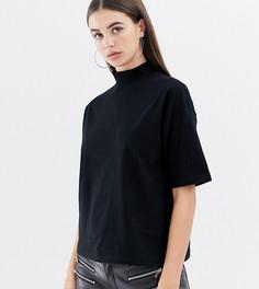 Черная футболка с высоким воротом ASOS DESIGN Tall - Черный