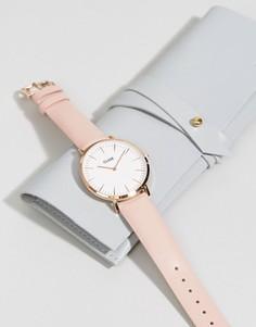 Часы с розовым кожаным ремешком CLUSE La Boheme CL18014 - Розовый
