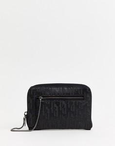 Средний кошелек на молнии Juicy Couture - Черный