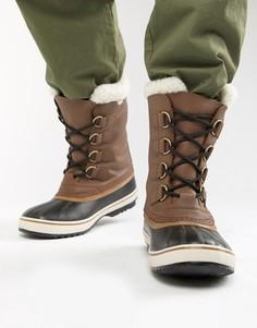 Коричневые кожаные зимние ботинки SOREL Pac - Коричневый