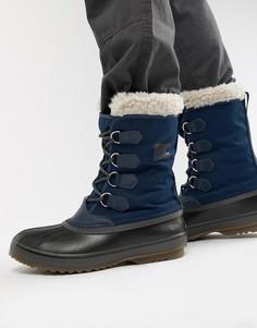 Синие нейлоновые зимние ботинки SOREL Pac - Синий