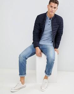 Темно-синяя стеганая куртка Celio - Темно-синий