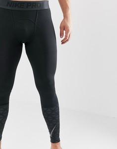 Черные леггинсы Nike Training Pro 929699-010 - Черный