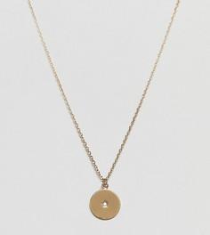 Позолоченное ожерелье с подвеской виде диска Orelia - Золотой