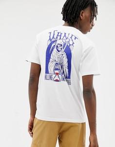 Белая футболка с принтом на спине Vans VN0A3HXUWHT1 - Белый