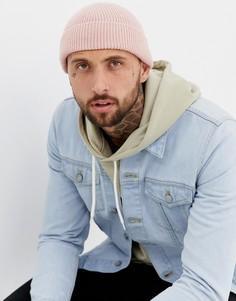 Розовая шапка-бини 7X - Розовый