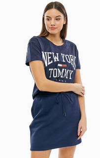 Хлопковая футболка с короткими рукавами Tommy Jeans