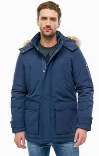 Синяя куртка с капюшоном и карманами Tommy Jeans