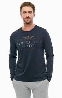 Хлопковая футболка с длинными рукавами Aeronautica Militare