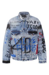 Джинсовая куртка с принтом Balenciaga