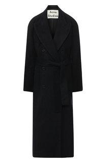 Двубортное пальто с поясом Acne Studios