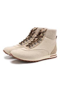 Комбинированные ботинки Week End Walk на шнуровке Loro Piana