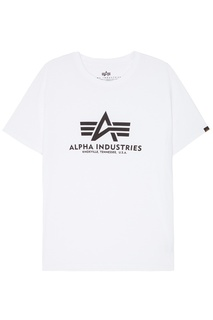 Белая футболка с логотипом Alpha Industries