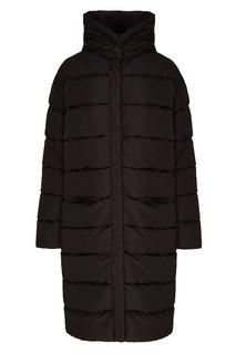 Черное стеганое пальто ЛИ ЛУ