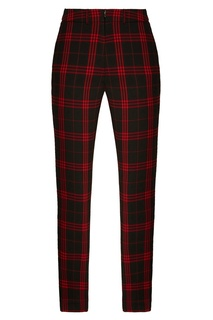Черно-красные клетчатые брюки ЛИ ЛУ