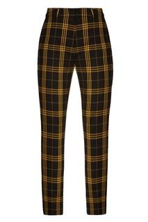 Черно-желтые клетчатые брюки ЛИ ЛУ
