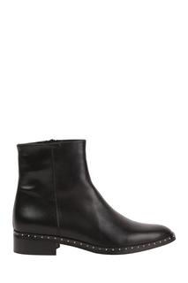 Черные ботинки с заклепками Pertini