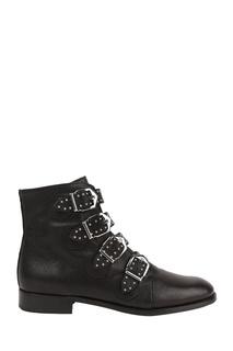 Черные ботинки с пряжками Pertini
