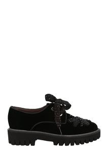 Черные ботинки с аппликацией Pertini