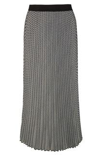 Плиссированная юбка с принтом Maje