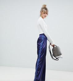 Темно-синие широкие брюки с полосками по бокам Boohoo - Темно-синий