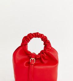 Маленькая сумка с присборенными ручками My Accessories London - Красный