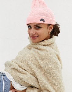 Розовая шапка-бини Nike Sb - Розовый