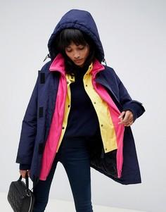 Многослойное oversize-пальто ASOS DESIGN - Синий