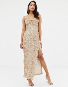 Платье макси с пайетками Forever New - Золотой