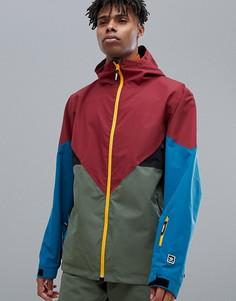 Зелено-красно-синяя горнолыжная куртка adidas Snowboarding Premiere - Зеленый