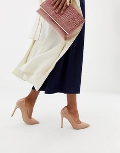 Бежевые туфли-лодочки с лакированным задником Miss Selfridge - Розовый