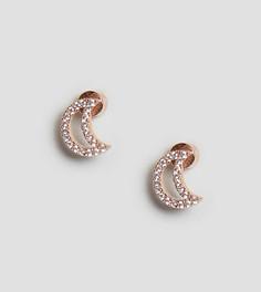 Серьги-гвоздики с покрытием 18-каратным розовым золотом Astrid & Miyu - Золотой