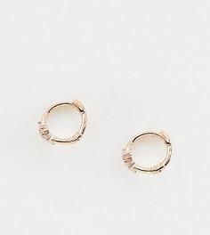 Серьги-кольца с покрытием из 18-каратного розового золота Astrid & Miyu - Золотой