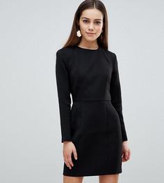 Платье мини с подплечниками ASOS DESIGN Petite - Черный