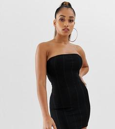 Черное бандажное платье-бандо мини Missguided Petite - Черный
