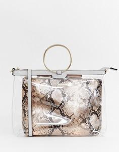 Прозрачная сумка River Island - Золотой