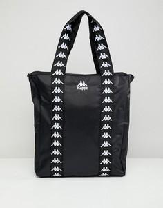 Черная сумка-тоут с логотипом KAPPA - Черный