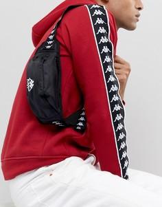 Черная сумка-кошелек на пояс с логотипом на ленте Kappa Authentic Anais - Черный