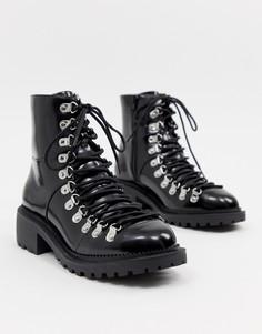 Массивные походные ботинки ASOS DESIGN - Черный