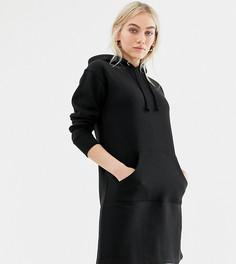 Платье-свитшот с капюшоном Brave Soul Petite - Черный