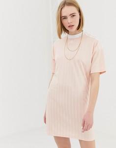 Розовое платье с трилистником adidas Originals - Розовый