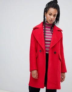 Красное фактурное пальто Esprit - Красный